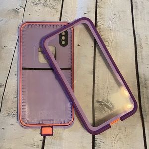 Lifeproof FRE Live 360 iPhone X case. Purple w/box